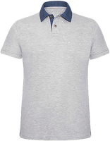 Polo Homme Col Denim