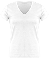 Tee Shirt Col V Manches Courtes Femme