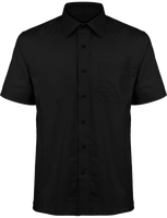 Chemise Popeline Manches Courtes Homme