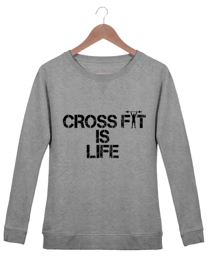 Sweat Col Rond Femme Stella Trips Crossfit is life par tunetoo