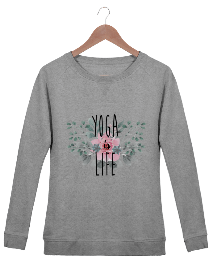 Sweat Col Rond Femme Stella Trips Yoga is life par tunetoo