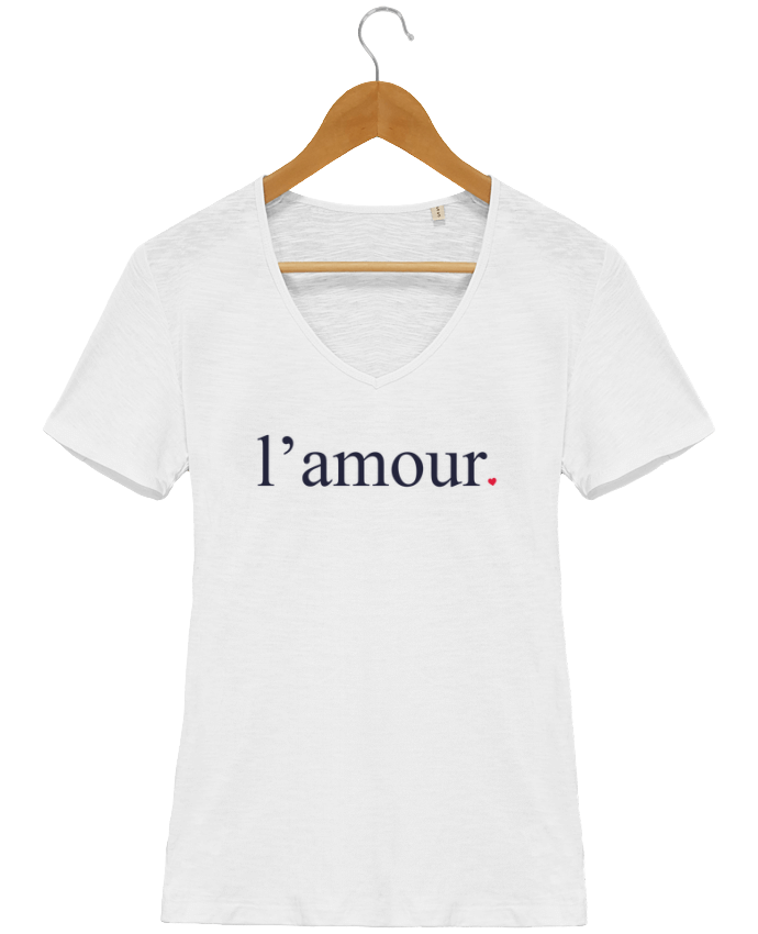 T-shirt Femme Col V Stella Chooses l\'amour by Ruuud par Ruuud