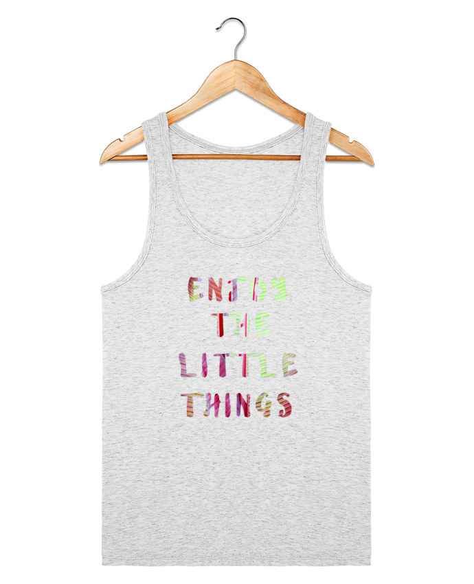 Débardeur Bio Homme Stanley Runs Enjoy the little things par Les Caprices de Filles 100% coton bio
