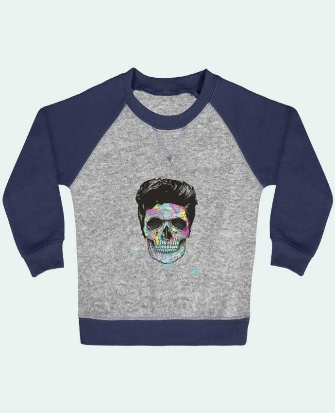 Sweat Shirt Bébé Col Rond Manches Raglan Contrastées Death in Color par Balàzs Solti