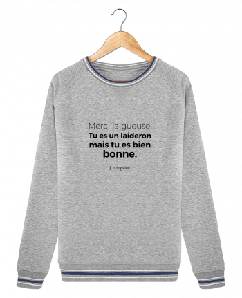 Sweat Col Rond Stella Trips Tipped Merci la gueuse par tunetoo