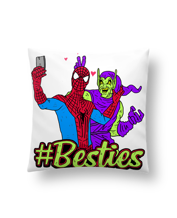 Coussin Synthétique Doux 41 x 41 cm #Besties Spiderman par Nick cocozza