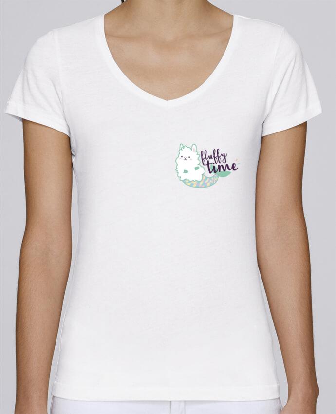 T-shirt Femme Col V Stella Chooses Mermaid Fluffy par Nana