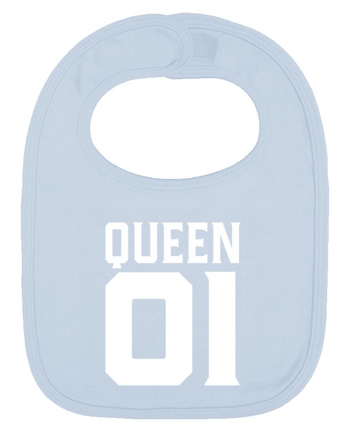 Bavoir Uni et Contrasté queen 01 t-shirt cadeau humour par Original t-shirt