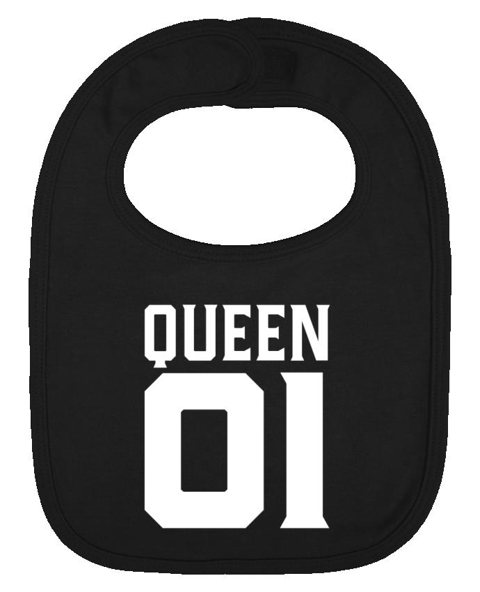 Bavoir bébé uni queen 01 t-shirt cadeau humour par Original t-shirt