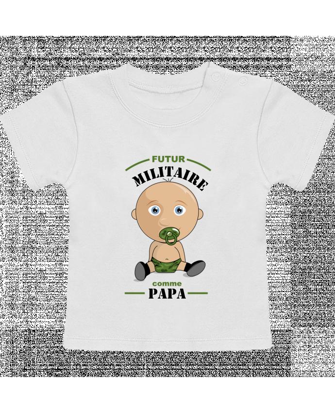 T-Shirt Bébé Manches Courtes Futur militaire comme papa manches courtes du designer GraphiCK-Kids