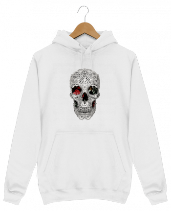 Sweat Shirt à Capuche Homme Lace skull 2 light par ali_gulec