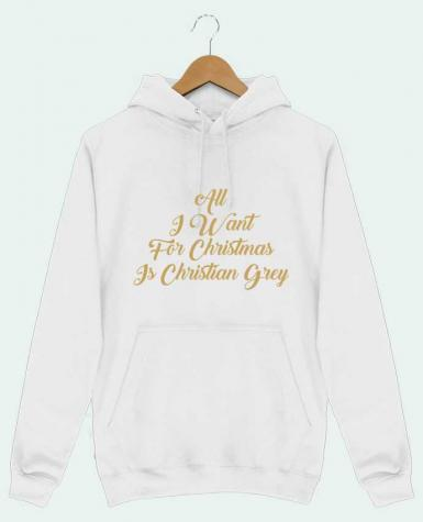 Sweat Shirt à Capuche Homme All I want for Christmas is Christian Grey par tunetoo