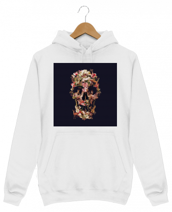 Sweat Shirt à Capuche Homme Jungle Skull par ali_gulec