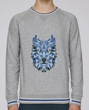 Sweat Col Rond Homme Stanley Strolls Tipped wolf - geometry 3 par /wait-design