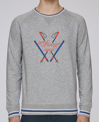 Sweat Col Rond Homme Stanley Strolls Tipped Chasse neige - design ski par tunetoo